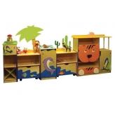 Стенка для игрушек АФРИКА фанера