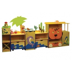 Стенка для игрушек АФРИКА ЛДСП+фанера