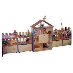 Стенка для игрушек ДОМИК фанера