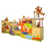 Стенка для игрушек ЦИРК фанера