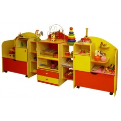 Стенка для игрушек ОСЕНЬ ЛДСП+фанера