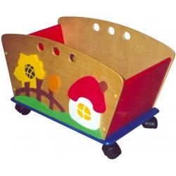 Тележка для игрушек с декором (6 видов декоров)