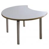 Стол сегмент на рег. ножках (столешница-ЛДСП)