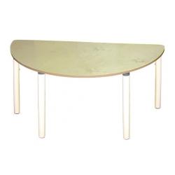 Стол полукруглый на рег. ножках (столешница-пластик)