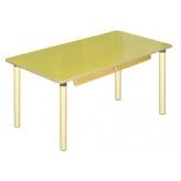 Стол прямоугольный с ящиками на рег. н. (столешница-фанера)
