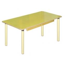 Стол прямоугольный с ящиками на рег. н. (столешница-ЛДСП)