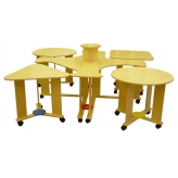 Стол модульный на колесных опорах (6 элементов)