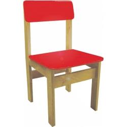 Стул детский (h=32-38 см) краска спинка-сиденье