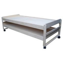 Кровать складируемая (штабелируемая) на колесных опорах