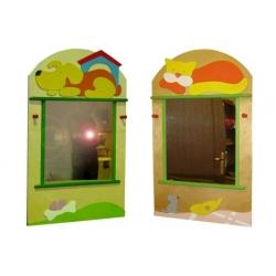 Зеркало в раздевалку малое (6 видов декоров)