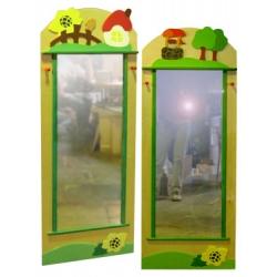 Зеркало в раздевалку большое (6 видов декоров)