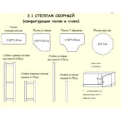 Конфигурация стоек и полок (стеллаж 3.1)